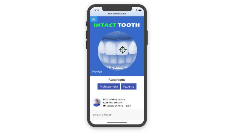 Intact Tooth: La prima App Per la Gestione dei tessuti duri